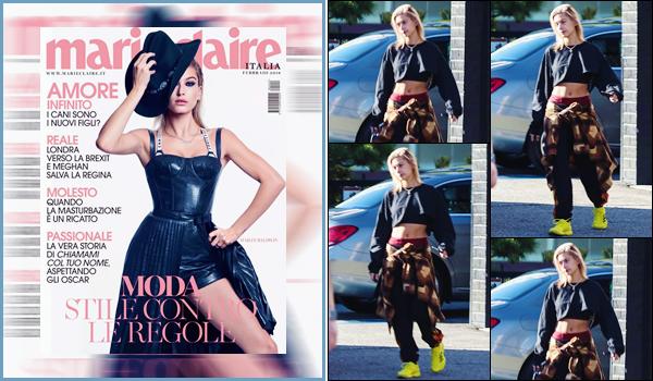 '- '-▬-14/01/18 -' : Hailey Baldwin a été photographiée, de sortie dans le quartier de Beverly Hills, en Californie. Très peu de photos et une Hailey Baldwin peu ravie de voir les photographes lors de sa sortie... De plus découvrez la couverture pour Marie Claire Italia.-