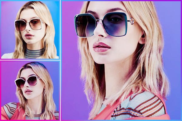 - '-FENDI ●- Hailey Baldwin prend la pose pour la marque « Fendi Eyewear » pour la nouvelle collection ! -