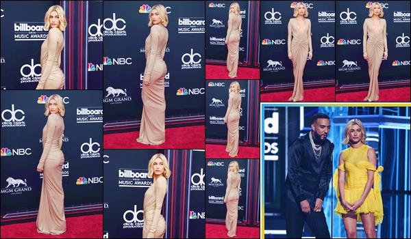 - ''•-20/05/18-' : Hailey Baldwin prenait la pose lors des « Billboard Music Awards 2018 » ayant lieu à Las Vegas. C'est Hailey Baldwin qui introduisait la performance de la chanteuse Dua Lipa, sur son célèbre single : New Rules, lors de la cérémonie de prix musicaux. -
