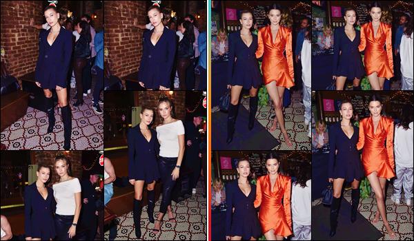 - ''•-07/06/18-' : Hailey Baldwin était présente à la soirée « Chaos x Love » au Bruv Club de la ville de New York. De retour d'un voyage au Japon avec des amis, Hailey Baldwin est finalement de retour dans la ville de New York, aux côtés de son amie Kendall Jenner. -
