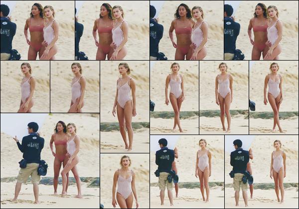 - ''•-31/05/18-' : Hailey Baldwin a été à nouveau aperçue sur le tournage d'un photoshoot, ayant lieu à Hawaii. Dans un tout nouveau maillot une pièce, Hailey Baldwin poursuit son contrat de mannequin sous le soleil tropical d'une superbe plage de l'île d'Hawaii ! -