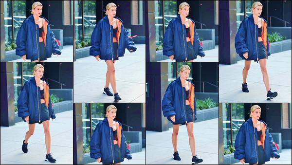 - ''•-22/06/18-' : Hailey Baldwin a été aperçue en quittant son appartement, situé dans le quartier de Brooklyn. Hailey nous fait enfin le plaisir d'une petite sortie en solo ! Côté tenue, notre belle blonde a déjà fait beaucoup mieux que ça. C'est encore un gros flop ! -
