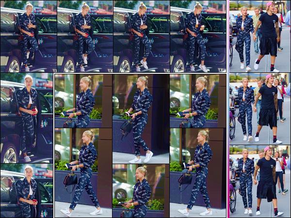 - ''•-05/07/18-' : Hailey Baldwin se rendait au restaurant « Nobu Downtown » avec Justin Bieber, dans New York. Après avoir quitté l'appartement de la belle, le couple s'est par la suite rendu à la boutique Dumbo's Empire et qui se trouve dans le quartier de Brooklyn. -
