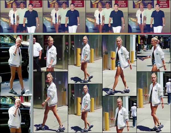 - ''•-10/07/18-' : Hailey Baldwin a été photographiée dans la ville de New York, avec son petit ami Justin Bieber. De retour de leurs vacances aux Bahamas, les deux célébrités ont été photographiés en descendant d'un jet privé, avec Ryan Good, dans le New Jersey ! -