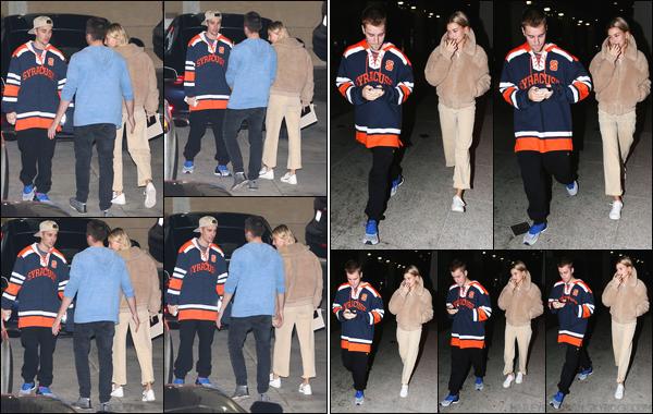 - ''12/12/2018''•Hailey Baldwin arrivait au « Saban Theatre » avec Justin Bieber, qui se situe à Beverly Hills. Hails est de retour à Los Angeles ! Un peu plus tard, Hailey B. a été vue lorsqu'elle quittait « iPic Theaters » avec Justin, à Los Angeles'! -