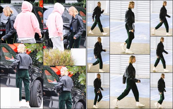 - ''14/12/2018''•Hailey Baldwin arrivait à la maison de Scooter Braun avec Justin Bieber, situé à Los Angeles. Un peu plus tard, la belle Hailey B. a été photographiée alors qu'elle se rendait au « Centre médical Cedars-Sinai », situé à Los Angeles. -