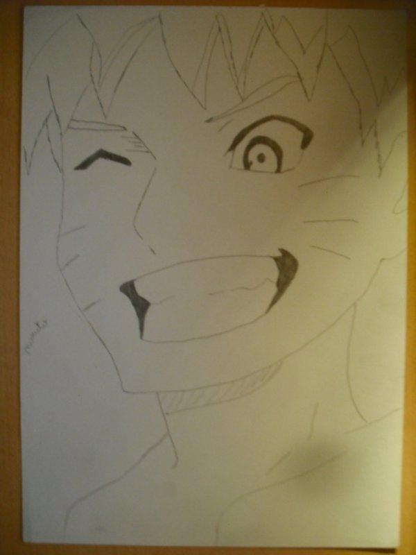 Naruto sur feuille A4