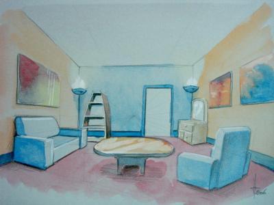 Dessin deco intérieur simple - Dessins peintures illustrations