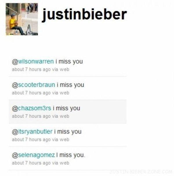 Selena Gomez manque àJustin!
