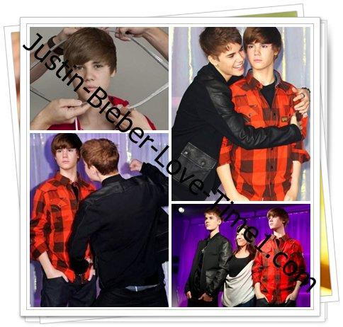 Le double de Justin chez Madame Tussauds !
