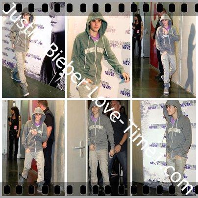 Justin à Madrid pour la promo de Never Say Never