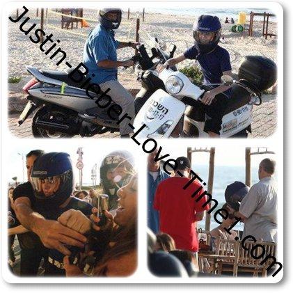 Justin fait du scooter en Israël