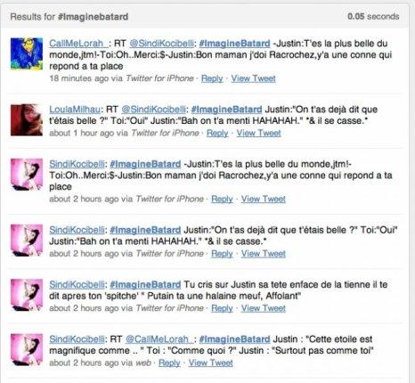 Sur Twitter, des personnesne s'imaginent pas du tout avec Justin !