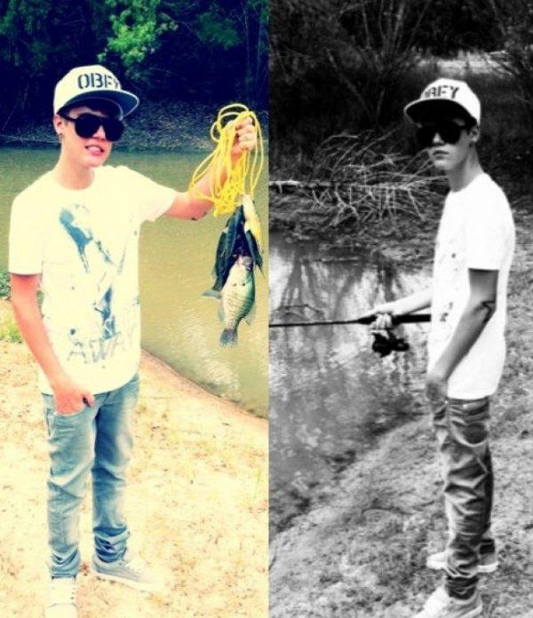 Justin est amateur de pêche