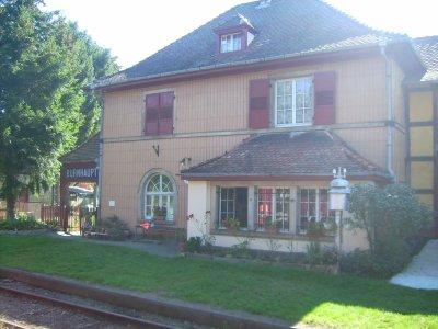 La gare de Burnhaupt.