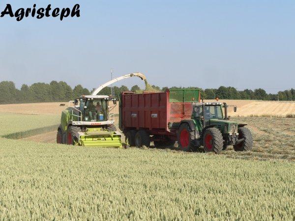 Ouverture des terres pour le passage d'une canalisation de gaz avec Stassart et Joagry pour Fluxys