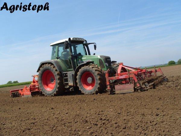 Préparation des terres pour le semis de maïs chez Dupuis