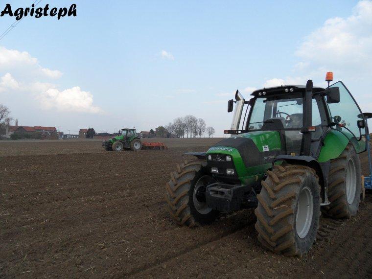 Préparation des terres et plantation de pomme de terre chez Allagri