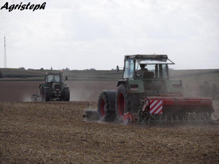Déchaumage et semis