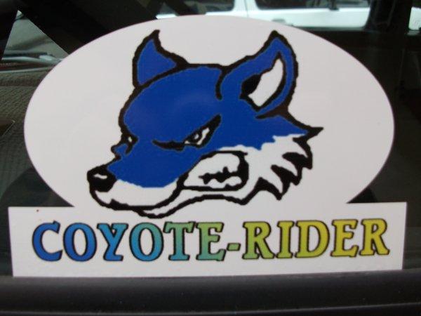le logo de l'association coyote-rider pour l'année 2012!