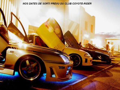 Nos dates de sortie des tuning de l'association coyote-rider!