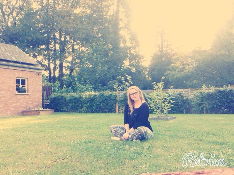 In the garden! ❤️