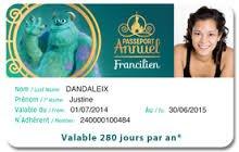 Offre Passeport annuel DISNEYLAND