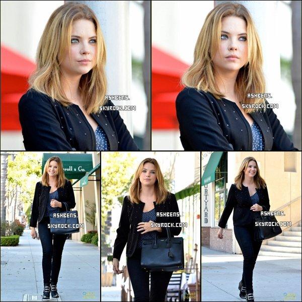 . 04/09/13___  Ashley  a été vue un rendez-vous professionnel accompagnée de son manager   Thor Bradwell  au restaurant E. Baldi à Beverly Hills