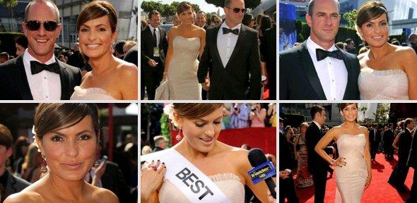 + Mariska accompagné de Chris était présente le 29 août aux Emmy Awards 2010; elle a était nominé dans la catégorie meilleure actrice dans une série dramatique mais elle n'a pas reçu de prix. Pour ce qui concerne sa tenu, sa coiffure ect elle est tout simplement ravissente comme toujours !