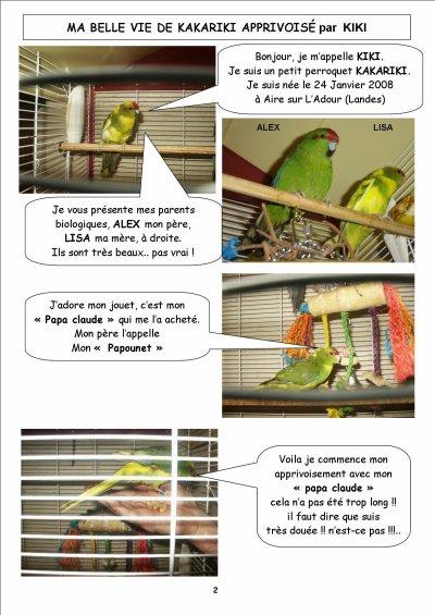 Ma belle vie de kakariki apprivoisée par KIKI - page 1