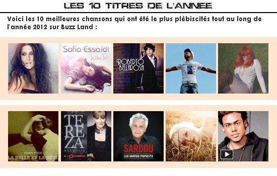 EVARON DANS LES TITRES MEILLEURS TITRES DE L ANNEE 2012 AVEC SON TITRE UN AMI
