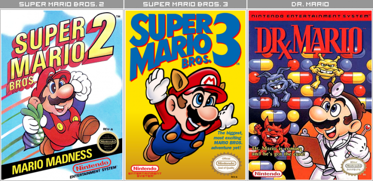 Couvertures / Cover Jeux Mario HD : Nintendo Entertainement System