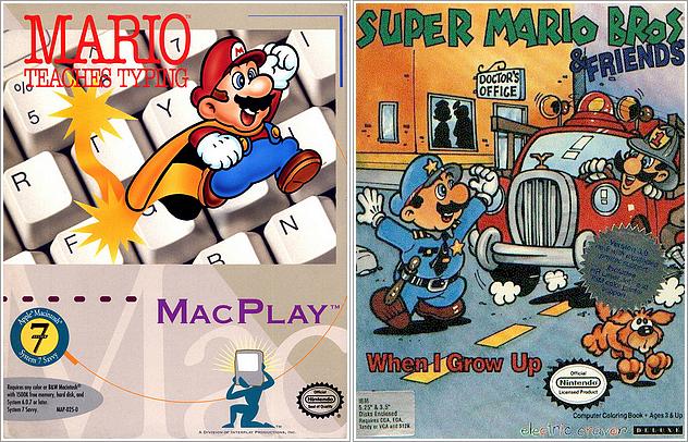 Couvertures / Cover & Informations des Jeux de Mario seulement distribués par Nintendo + Jeux éducatifs [17 JEUX]
