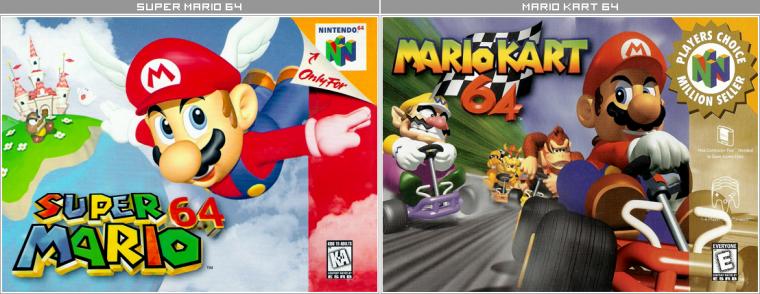 Couvertures / Cover Jeux Mario HD : Nintendo 64