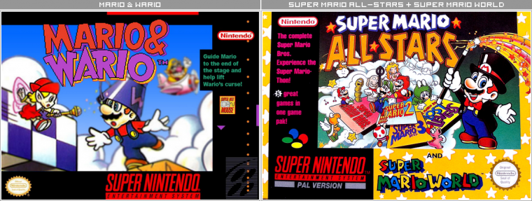 Couvertures / Cover Jeux Mario HD : Super Nintendo