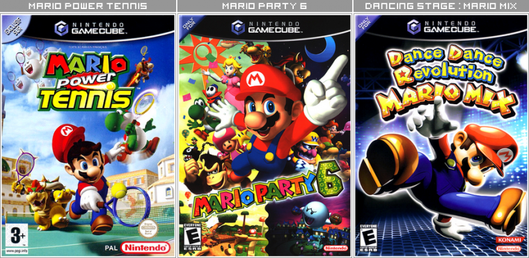 Couvertures / Cover Jeux Mario HD : Game Cube