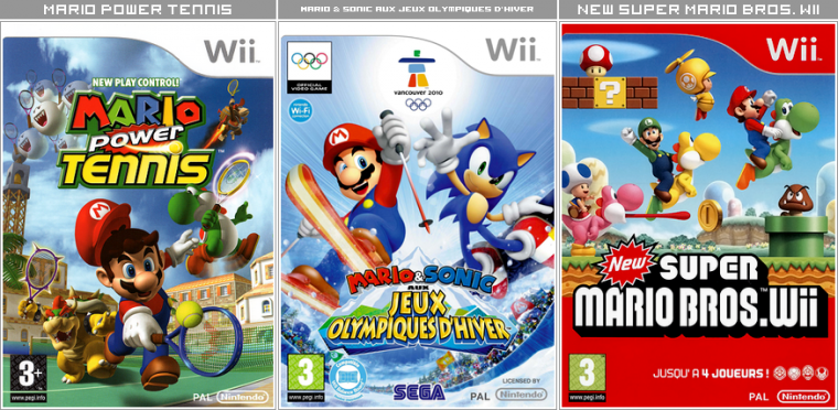 Couvertures / Cover Jeux Mario HD : Wii