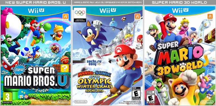 Couvertures / Cover Jeux Mario HD : Wii U