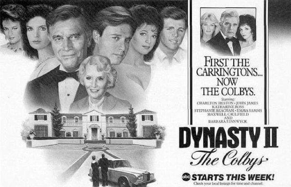 la série dérivée de dynastie : les colbys