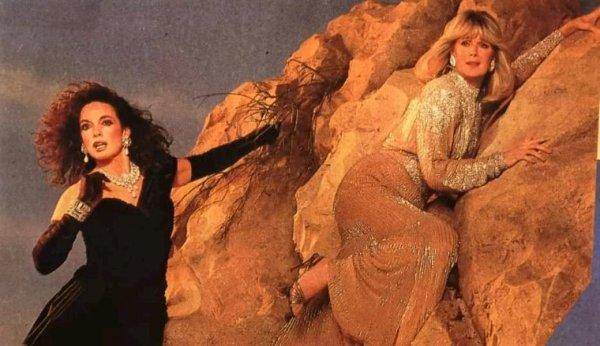 Séance photos avec Linda Evans et Linda Gray