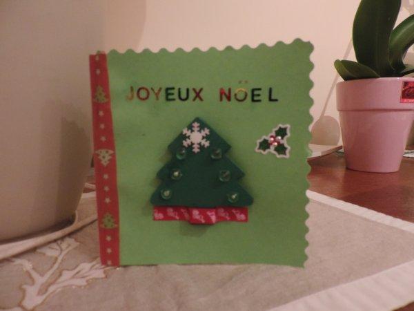 Une carte de Noël