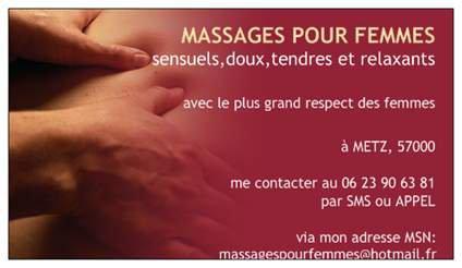 MASSAGES POUR FEMMES / CARTES DE VISITES