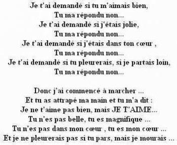 Trés Beau Poeme On Pardonne Toujours A Celui Quon Aime Car