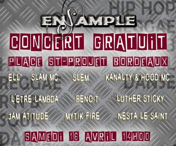 MYTIK FIRE Participe au CONCERT ENSAMPLE Le Samedi 16 avril 2011