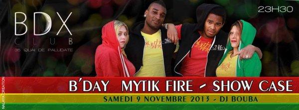 MYTIK FIRE EN SHOW CASE CE SOIR AU BDX CLUB