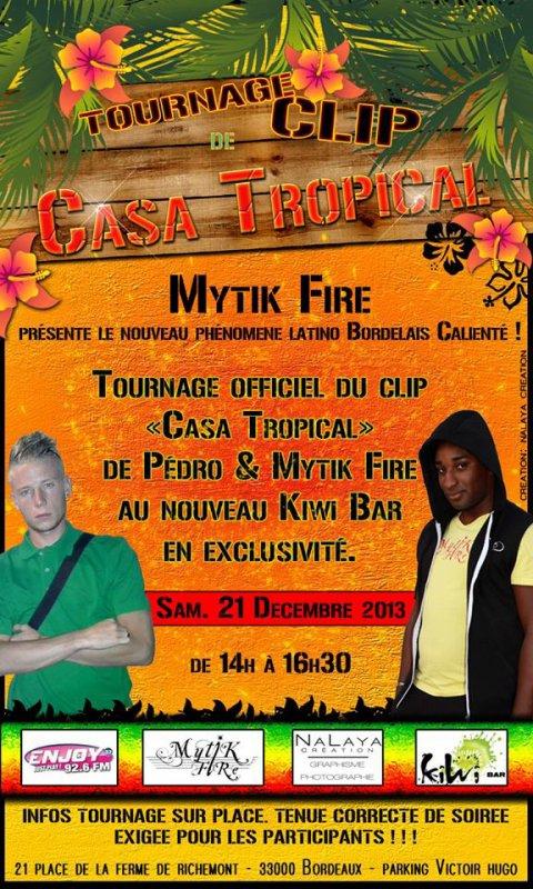 Tournage du clip PEDRO & MYTIK FIRE AU NOUVEAU KIWI BAR