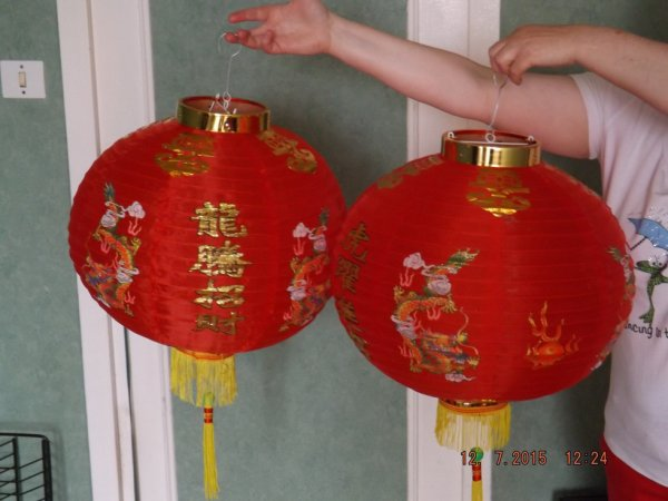 Voila mes lampions chinois
