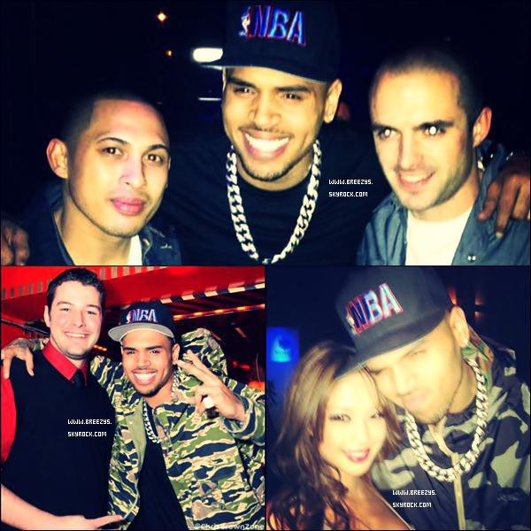". Chris Brown Apperçu au Club ""Noble"" in San Francisco   ."