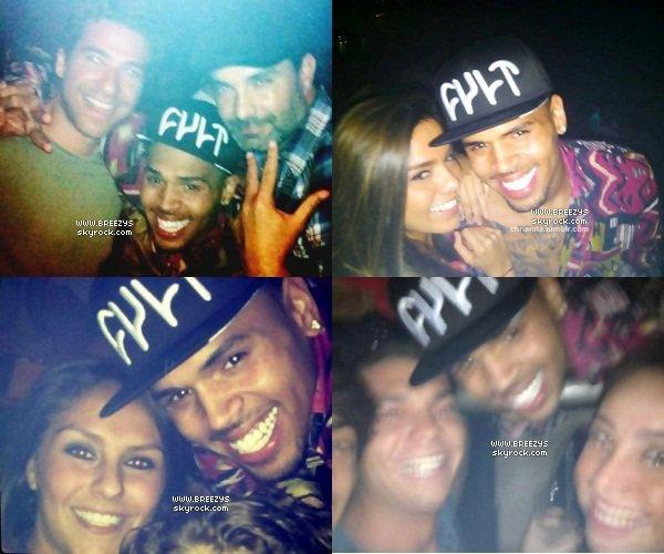 """. Chris Brown a été Appercu au Club """"Cancun"""" au Mexique. Hyper Sexx Pour Le Club Loool ."""