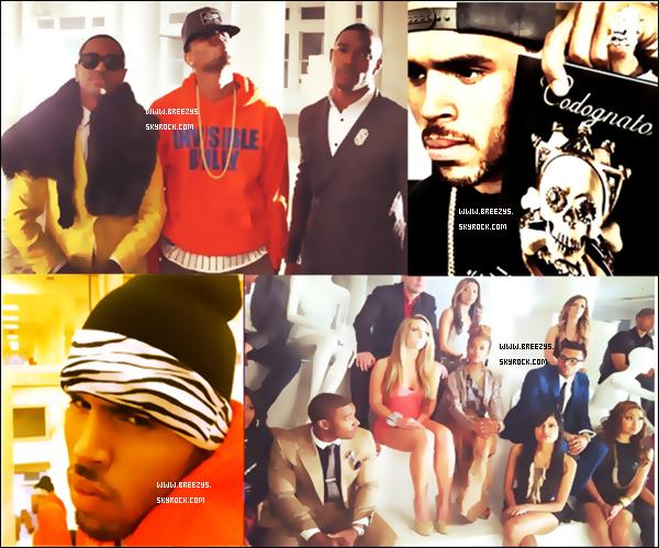 """. """"Breezys"""" : -Découvre Les Nouvelles Photos Du Tournage Du Clip """"Naked""""de Kevin""""Kmac""""Mccall(Chris Brown sera Le Realisateur Du Clip) . B.o. B invite Chris Brown sur Un morceau « Arena » en Trio Avec T.I , tiré de son album Strange Clouds ......  ."""